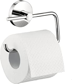hansgrohe Toilet Paper Holder Easy Install 6-inch Modern Accessories in Chrome, 40526000