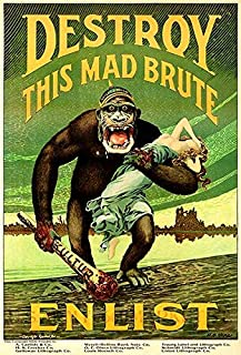 Destroy This Mad Brute - Enlist US Army - 1917 - World War I - Recruitment Poster Magnet