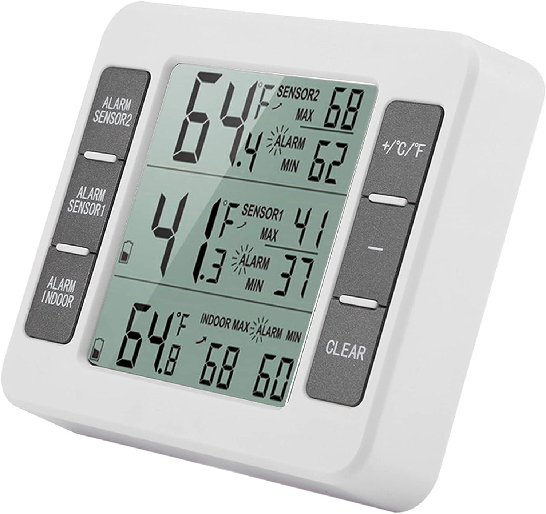 Refrigerator Freezer Room Audible Alarm Digital Max 2021 new 79% OFF with Senso 2PCS