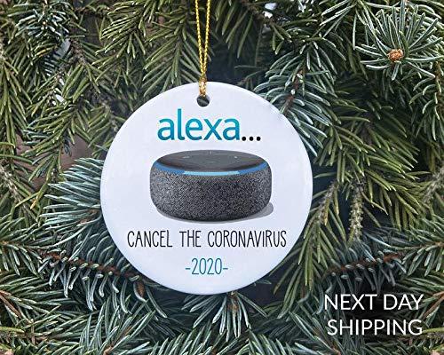 None-brands Amazon Alexa Inspired Christmas Ornament Holiday Ornament Christmas Ornament 2020 Shopper Christmas Ornament Amazon Christmas Ornament