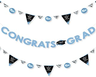 Big Dot of Happiness Light Blue Grad - Best is Yet to Come - 2021 Light Blue Graduation Party Letter Banner Decoration - 3...