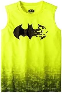Fashion Boys Batman Acid Yellow Sleeveless Muscle Tank Top Shirt