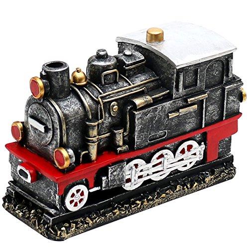 Dekohelden24 Räucher - Lokomotive in künstlich gealterter Optik, Höhe 11 cm Breite 6,5 cm Länge 16 cm