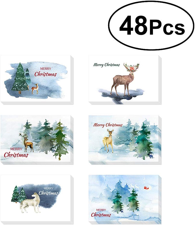 Toyvian 48pcs Kreative Aquarell Aquarell Aquarell Christams Themenorientierte Grußkarten-Umschläge B07KJC5NTK | Online-Exportgeschäft  | Ausgang  | Hohe Sicherheit  25135a