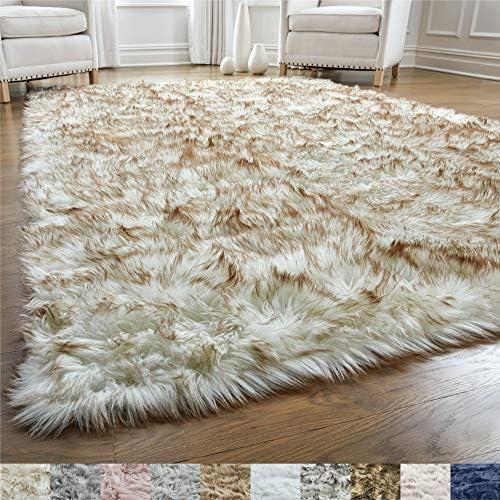 Gorilla Grip Original Premium Faux Fur Area Rug 6x9 Softest Luxurious Shag Carpet Rugs for Bedroom product image