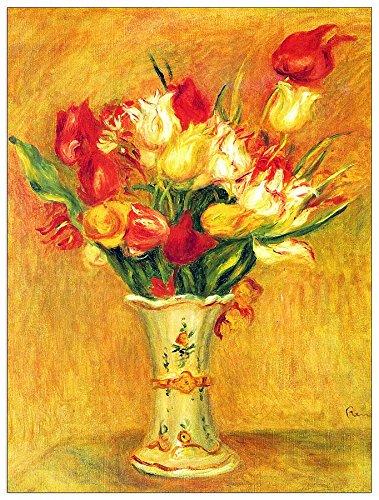 ArtPlaza Renoir Pierre-Auguste-Tulpen in een vaas decoratief paneel