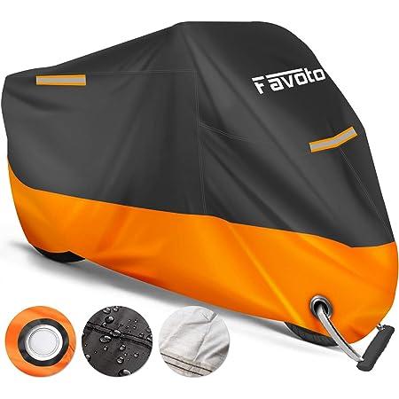 245 x 105 x 125 cm Pioggia 190T Teli per Moto in Poliestere Anti-UV Resistente a Polvere Vento e Escrementi di Uccelli WOWOSS Telo Coprimoto Impermeabile per Esterno