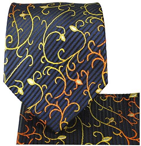 Cravate homme noir bleu ensemble de cravate 3 Pièces (longueur 165cm)