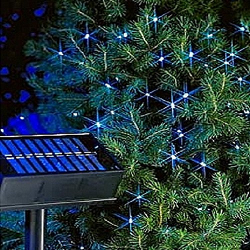 LD Kerstmis decoratie 100 LED kerst lichtketting Solar lichtketting buitenverlichting tuin wit