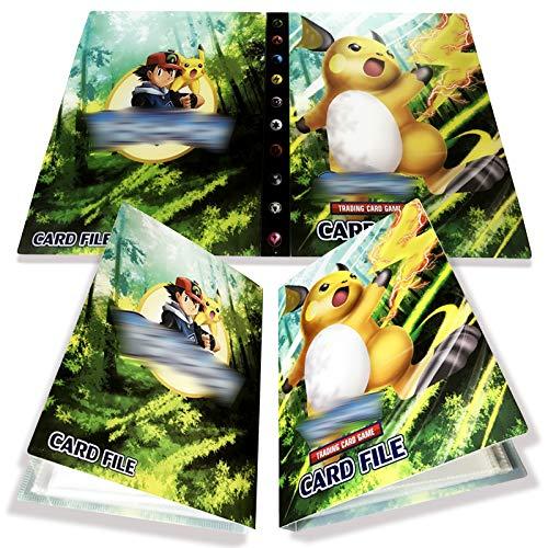 Yisscen Tarjetero Pokemon, Tarjetas coleccionables, álbum de Tarjetas, Carpeta de álbum Pokemon 30 páginas con Capacidad para 240 Tarjetas (Raichu)