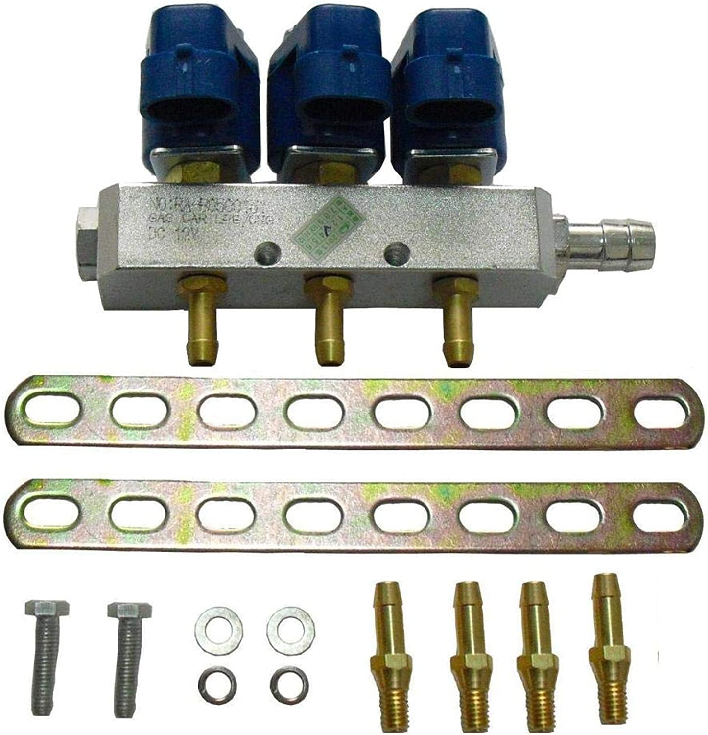 LO.Gas SRL LPG CNG 3 Cylinder Injector Rail for Sequential Injection System
