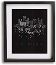 The City by The 1975 inspired song lyric art print, unique dorm decor