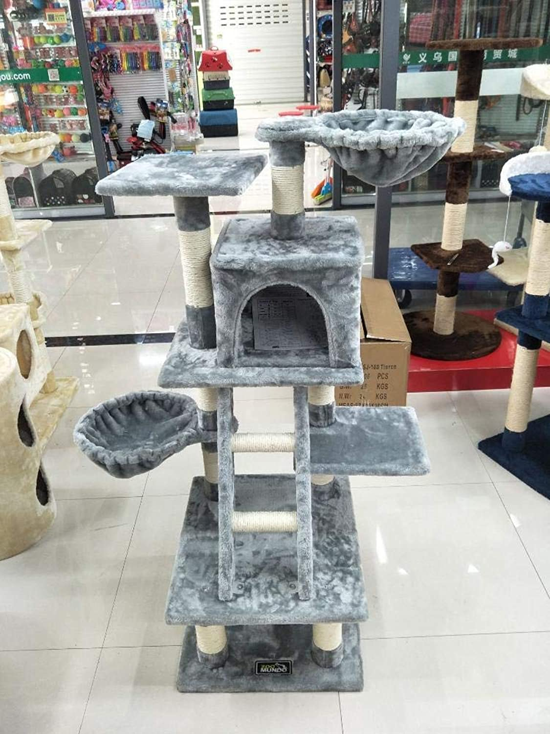 Axiba Play Towers Trees for Cats Cat Climb frame cat tree cat litter cat grab column for game sleeping 49cm 44cm  120cm