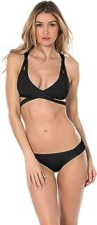 Becca by Rebecca Virtue Women's Convertible Split Strap Bralette Bikini Top Black S