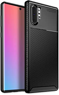 Olixar for Samsung Galaxy Note 10 Plus Carbon Fiber Case - Slim TPU Cover - Thin Protective Cover - Shock Protection - Wireless Charging Compatible - Black