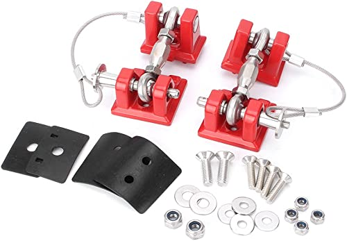 high quality Mallofusa Chrome Hood Catch Kit Latch Locking Bracket Buckle Holder Compatible popular for Jeep Wrangler JK discount Unlimited 2007-2017 Red(1 Pair) online