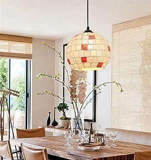 Mediterranean Restaurant Glass Droplight-Mosaic E27 Lampshade Pendant Light