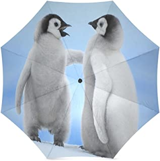 Custom Cute Little blue bird Compact Travel Windproof Rainproof Foldable Umbrella