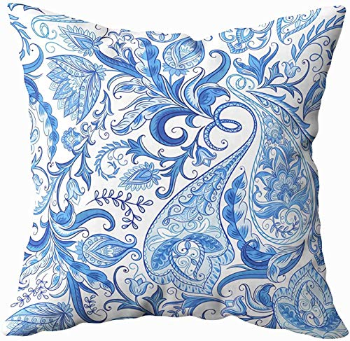 Art Pillow Case, Vintage Flowers Pattern Traditional Pickles Ornament Fabric Textile Card 20x20 Pillow Covers,Home Decoration Pillow Cases Zippered Covers Cushion for Sofa Couch