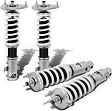 J2 Engineering 32-Way Strut Damper w/Coilover Spring Kit (White & Silver) For Subaru Legacy BM/BR