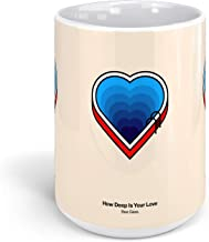 Ceramic Coffee Mug Melody Cup How Deep Is Your Love Music Singer Songs Drinkware Super White Mugs Family Gift Cups 15oz 443ml