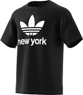 adidas Mens Stacked New York T-Shirts Black