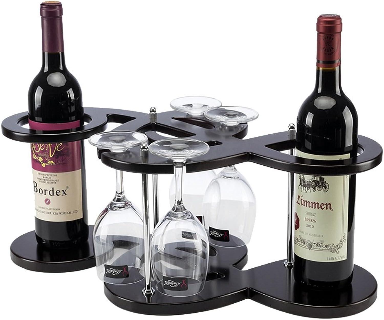 BTPDIAN Wine Rack Wine Rack Creative European Fashion Wooden Wine Rack(Size 50 cmX 25.5cmX20cm)