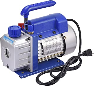 """4CFM 1/4HP 5 Pa Rotary Vane Vacuum Pump 110V Electric Vacuum Pump Air Conditioning Refrigeration 1/4"""" Flare Inlet Port for..."""