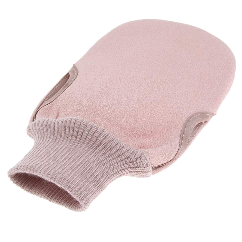 波ファセットクリアバスグローブ 垢すり手袋 シャワー用 ボディースポンジ お風呂 バス用品 2色選べ - ピンク