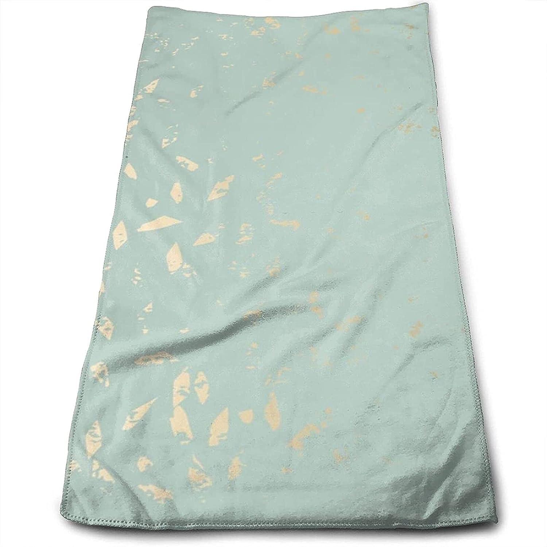 Epushow Abstract Marble Fashion Texture, Soft Gold Handkerchief Kitchen Bathroom Handkerchief Soft Polyester Microfiber