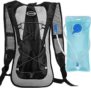 Mochila de hidratación para bicicleta, con 2 litros de burbuja de agua, para camping, senderismo, equitación, escalada, correr
