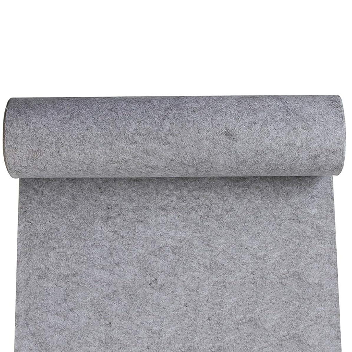 リーダーシップフルーティー無法者結婚式のための通路のランナー、使い捨て不織布のカーペットランナー、パーティーのためのラグランナー廊下の階段(9色オプション) (色 : グレー, サイズ : 1m×15m)