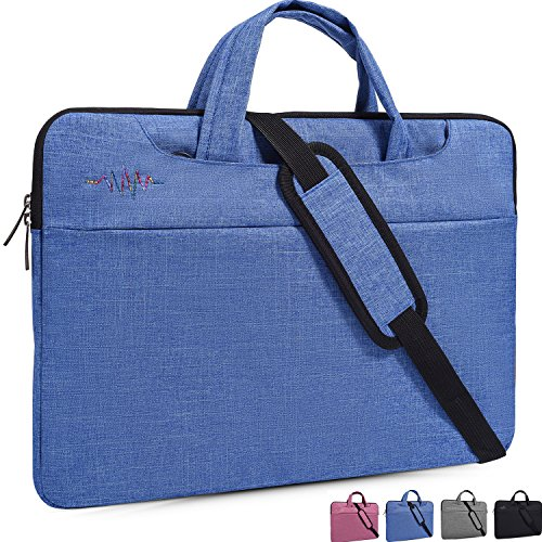 "14-15 Inch Laptop Bag,Man/Lady Simplicity Stylish Notebook Messenger Shoulder Bag Case Briefcase for Acer Chromebook 14"",Apple Asus Dell Samsung Toshiba LG Acer HP Notebook Protective Case,Light Blue"