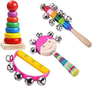 perfk 2 Pz Mini Piatti di Rame Mano Percussioni Strumentario Orff Giocattoli Regalo dei Capretti Giocattoli Precoce Educationaly