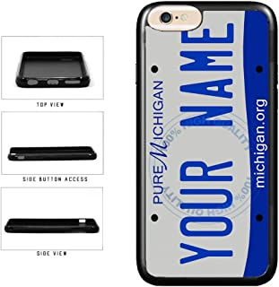 BleuReign(TM) Personalized Custom Name 2016 Michigan State License Plate TPU Rubber Silicone Phone Case Back Cover for Apple iPhone 8 and iPhone 7