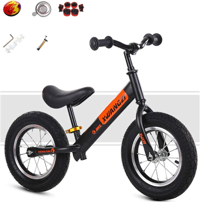YSH Kinder Laufrad Lauflernrad Kinderrad Leichtgewicht Verstellbarer Lenker Und Sitzhhe Eva Rad Mehrere Farben 2-6 Jahre   80-120 cm,A_schwarz