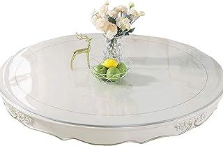 YFDC Nappe Ronde Transparente PVC Nappe Imperméable en Verre Souple Transparent Nappe Ronde Motif De Cuisine Huile Table C...