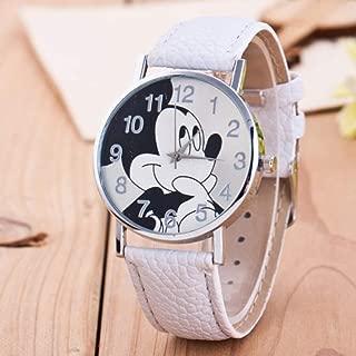 Xiangjin Wrist Watches,Women Lady Fashion Leather Watch Band Wristwatch Quartz Movement Gift white