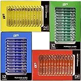 AmScope PS-4P12X1, vetrini per microscopio già pronti in plastica, con animali, insetti, piante e fiori, per bambini, 48 pezzi