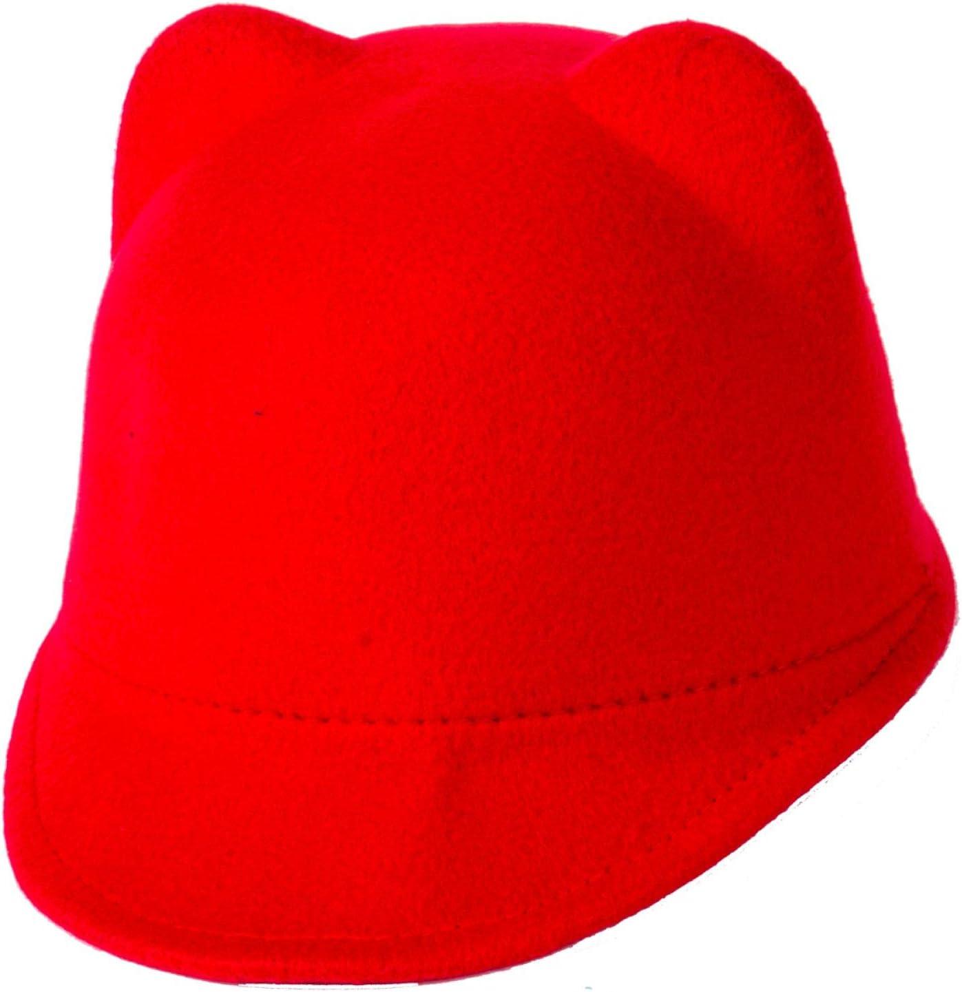 WWWL Sombrero de bebé Nuevo Invierno cálido niños niñas Orejas Gorra sólidas Orejas 3D Vintage Juego Brim Sombreros Gorra Red