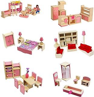 MIKI-Z 1 Set 1:12 Casa de muñecas en Miniatura Muebles de