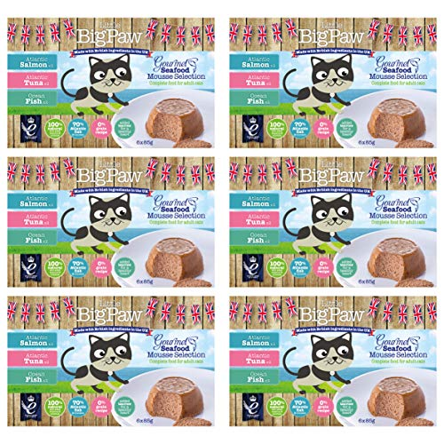 Little BigPaw Gourmet Cat Seafood Mousse Selection - 36 x 85 g