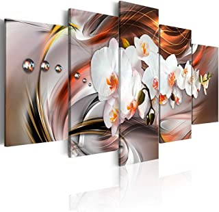Canvas_Art_Design_2015 White Floral Canvas Print Wall Art Floral Orchid Painting Artwork Bedroom Living Room Office Decor ...