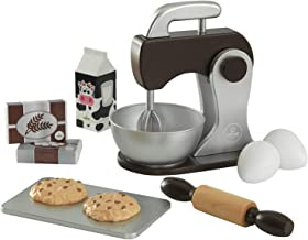 KidKraft - Set de cocina de juguete con batidora y accesorios para repostería, de madera, Color Espresso (63370) , color/modelo surtido