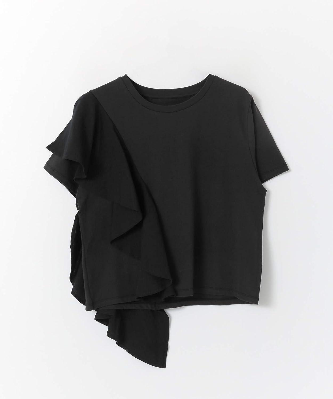 [ケービーエフ] tシャツ 異素材フリルTシャツ レディース
