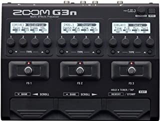 Zoom G3n G-Series Multi-Effects Processor for Guitar, 70 (68 Effects, 1 Looper Pedal, and 1 Rhythm Pedal) Onboard Digital ...