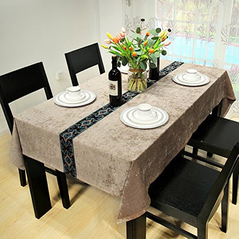 WFLJL Modern Und Minimalistisch Tischdecke Dekoriert Wohnzimmer Couchtisch Einen Rechteckigen Abdeckung Braun 110  170 cm