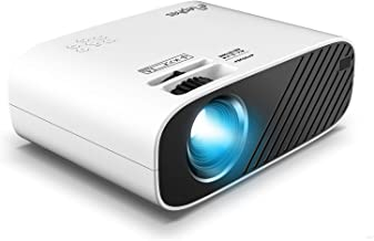 ELEPHAS Mini Movie Projector, with 4000 LUX Brightness and 50, 000 Hours of Lamp Life, Supports Full HD 1080P and 200