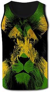 G.8.D Men Cool Jamaican Rasta Lion 3D Printed Tank Sleeveless T Shirt