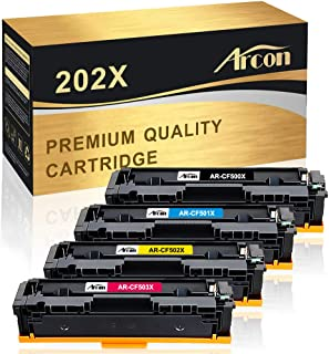Arcon Compatible Toner Cartridge Replacement for HP 202X CF500X 202A CF500A M281fdw HP Laserjet Pro MFP M281fdw M254dw M281dw M254dn M254nw M281fdn M281cdw M280nw M281 M254 CF501X CF502X CF503X Toner